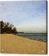 Sand And Water Acrylic Print