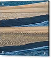Sand And Water Textures Abstract Acrylic Print