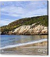 Sand Beach Acadia Acrylic Print
