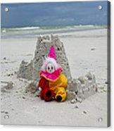 Sand Castle Jester Acrylic Print by William Patrick