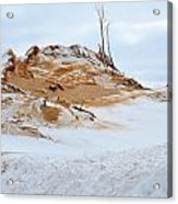 Sand Dune In Winter Acrylic Print