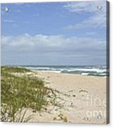 Sand Dunes And The Sea Acrylic Print