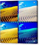 Sand Dunes Collage Acrylic Print