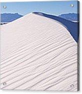 Sand Dunes In A Desert, White Sands Acrylic Print