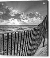 Sand Dunes In Black And White Acrylic Print