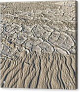 Sand Dunes Like Fine Cloth Acrylic Print