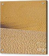 Sand Layers Acrylic Print