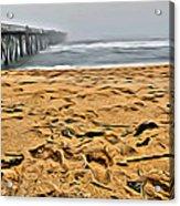 Sand On The Beach Acrylic Print