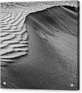 Sand Pattern Abstract - 2 - Black And White Acrylic Print
