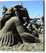 Sand Sculpture 1 Acrylic Print by Bob Christopher