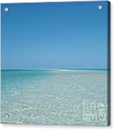 Sand Sea And Sky Acrylic Print