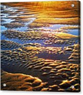 Sand Textures At Sunset Acrylic Print