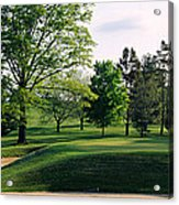 Sand Traps On A Golf Course, Baltimore Acrylic Print