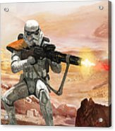 Sand Trooper - Star Wars The Card Game Acrylic Print by Ryan Barger