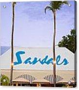 Sandals Grande Antigua Acrylic Print