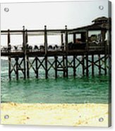Sandals Resort Nassau Pier Acrylic Print