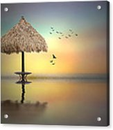 Sandbar Sunset Acrylic Print
