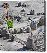 Sandcastle Squatters Acrylic Print by Betsy Knapp