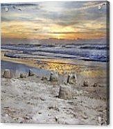 Sandcastle Sunrise Acrylic Print