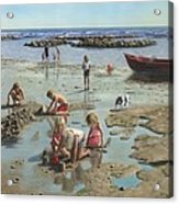 Sandcastles Acrylic Print