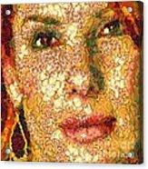 Sandra Bullock In The Way Of Arcimboldo Acrylic Print
