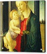 Sandro Botticelli, Madonna And Child, Italian Acrylic Print