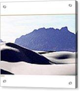 White Sands Natural Anatomy  Acrylic Print