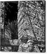 Sandstone Arch Jerome Black And White Acrylic Print