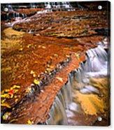 Sandstone Cascade Acrylic Print