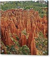 Sandstone Cliffs Acrylic Print by Liudmila Di