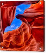 Sandstone Curves In Antelope Canyon Acrylic Print