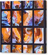Sandstone Sunsongs Blues Photo Assemblage Acrylic Print