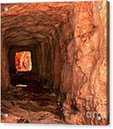 Sandstone Tunnel Acrylic Print