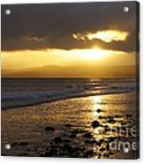 Sandy Bay At Dusk Acrylic Print