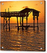 Sandy Bay Sunset Acrylic Print