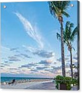 Sandy Beach And Beautiful Clouds  Acrylic Print