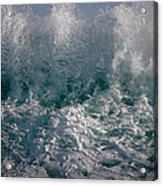 Sandy Beach Backwash Acrylic Print
