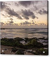 Sandy Beach Sunrise 10 - Oahu Hawaii Acrylic Print