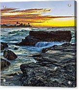 Sandy Beach Sunrise Acrylic Print