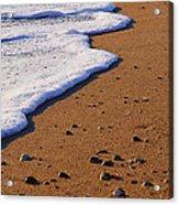 Sandy Foam Acrylic Print