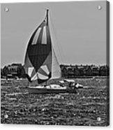 Sandy Hook Sailing II Acrylic Print