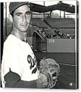 Sandy Koufax Photo Portrait Acrylic Print