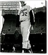 Sandy Koufax Vintage Baseball Poster Acrylic Print by Gianfranco Weiss