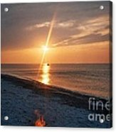 Sandy Neck Beach Sunset Acrylic Print
