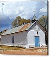 Sangre De Cristo Chapel In Cuartelez In New Mexico Acrylic Print