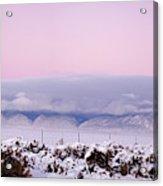 Sangre De Cristo Range With Clouds Acrylic Print