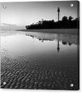 Sanibel Lighthouse And Beach II Acrylic Print by Steven Ainsworth