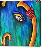 Sanskrit Om Ganesha Acrylic Print