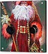 Santa As Father Christmas Acrylic Print by Shelley Schoenherr