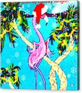 Santa Baby Flamingo Acrylic Print